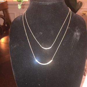 Nwt Blush Bars Necklace Touchstone Crystals